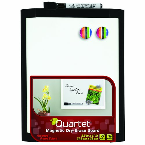 quartet-magnetic-dry-erase-board-8-1-2-x-11-inches-black-frame-mhow8511-bk