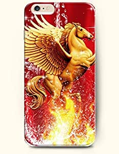 SevenArc Apple iPhone 6 Case 4.7 Inches - Golden Horse Prancing in the Water