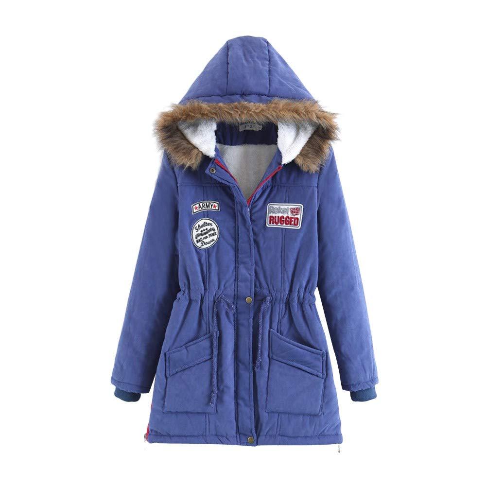 DaySeventh Women Winter Warm Long Coat Collar Slim Thick Parka Outwear