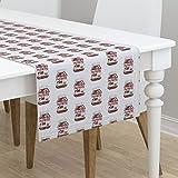Table Runner - Hazelnut Chocolate Nutella Italian Spread Dessert Nuts by Nerdfabrics - Cotton Sateen Table Runner 16 x 72