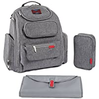 Bag Nation Diaper Bag Backpack with Stroller Straps, Changing Pad and Sundry ...