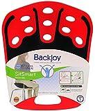 BackJoy SitSmart Tech Gel-On-The-Go-Relief (Adult 50 - 125 Kg, Red/Black)