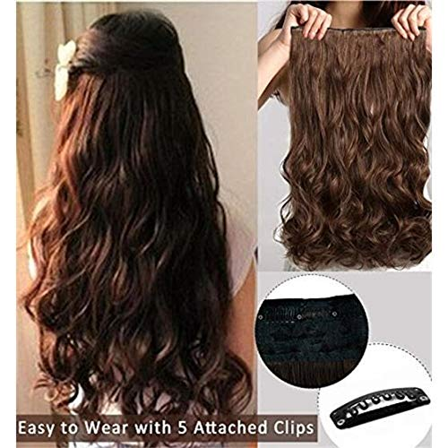 Pema Hair Extensions And Wigs Women's Girl's Clip In Wavy/Curly Hair  Extension (Natural Brown)- Buy Online in Pakistan at desertcart.pk.  ProductId : 78313453.