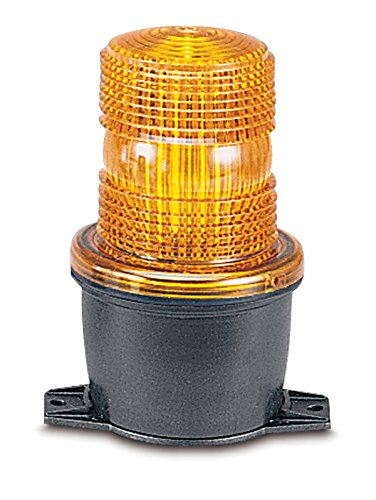 Federal Signal LP3T-120A Streamline Low Profile Strobe Light, T-Mount, 120 VAC, Amber