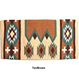Mustang NZ Wool Laredo Saddle Blanket Tan/Brown