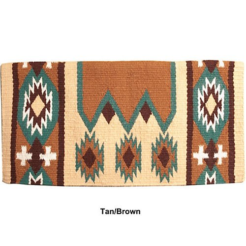 Mustang NZ Wool Laredo Saddle Blanket Tan/Brown