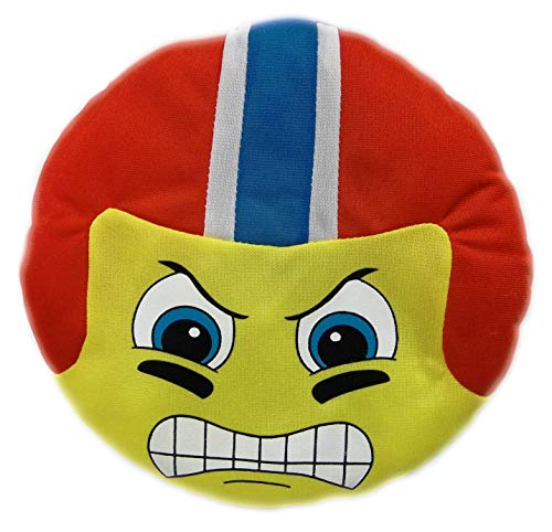 Football Emoji Plush Pillow Fluffy Stuffed Ball Throw Soft Durable Sports Toy Gift for Kids Room Decoration (Red)