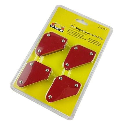 4 piezas de imanes soldador mini triángulo magnético soldador localizador herramienta fija ángulo soldador posicionador 9lb