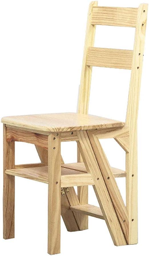 Plegables pasos de escalera Taburete plegable de escaleras con peldaños de madera, 4 pasos, estante multifunción para escaleras de escalada, para escaleras de tijera de cocina/oficina, color made: Amazon.es: Hogar