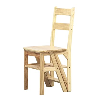 Admirable Wooden Step Ladders Folding Stool 4 Steps Multifunction Download Free Architecture Designs Scobabritishbridgeorg