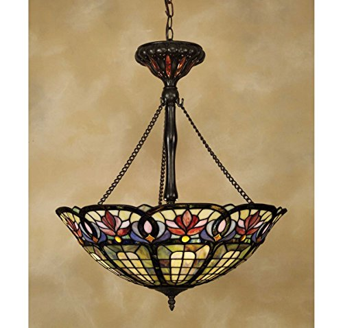 Quoizel TF1438VB 3-Light Tiffany Pendant in Vintage Bronze (Lamp Large Pendant Tiffany)