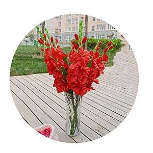 Sevem-D New Realistic 1Pc Artificial Simulation Gladiolus Flower Stem Wedding Bouquet Posy Table Home Decor 27