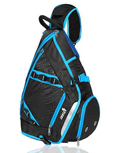 Cheap SEEU 32L Oversized Sling Backpack, Crossbody Chest Gym Backpack Outdoor Hiking Travel Bag for Men Women Kids