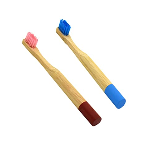 YeahiBaby - Cepillo de dientes de bambú natural, biodegradable, de madera, respetuoso con