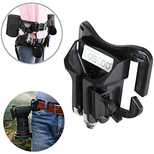 COSCOD Portable DSLR Camera Holster Belt, Hard Plastic Waist Belt Quick Release Buckle Holster - Camera Hanger Clip Holster Holder Fast Loading for Sony A6000 Canon EOS 5d2 Nikon D7100 (Camera Clip)