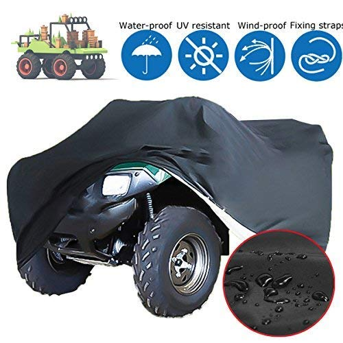 190D Polyester Riding Lawn Mower Cover Heavy Duty Waterproof Tractor Protector for Outdoor, 55.1''x26.0''x35.8'', Black dDanke