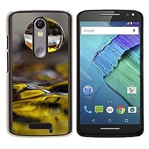LECELL--Funda protectora / Cubierta / Piel For Motorola MOTO X3 3rd -- El agua caída de las flores amarillas --