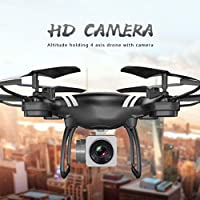 RC Quadcopter, Coerni WiFi FPV Real Time Transmission 4CH Wide Angle Lens HD Camera RC Drone (Black)
