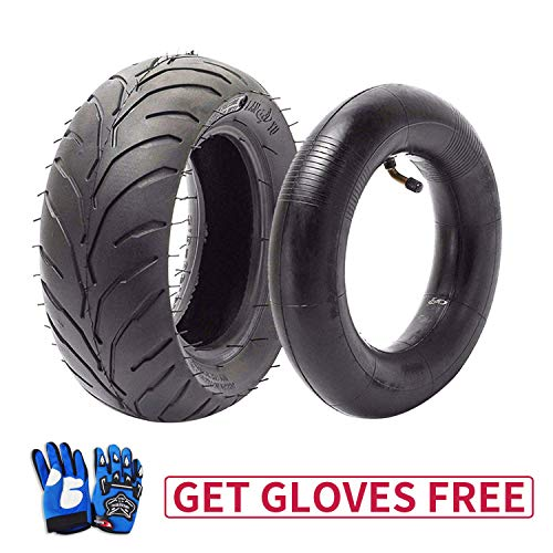 110/50-6.5 Tire and Inner Tube for 49cc Mini Pocket Rocket Bike,Thicker Tire and Tube 110 50 6.5,Free Blue Gloves (110 Pocket Rocket)