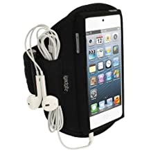 igadgitz Black Water Resistant Neoprene Sports Gym Jogging Armband for Apple iPod Touch iTouch 5th Generation 32GB 64GB