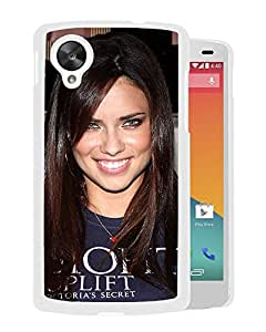 Beautiful Girl Cover Case For Google Nexus 5 With Adriana Lima Girl Mobile Wallpaper(110) Phone Case