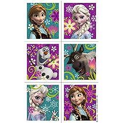 Birthday Party Favor Set for 12 - 12 Frozen Pencils, 16 Frozen Tattoos, 24 Frozen Stickers, 12 Snowflake Stampers