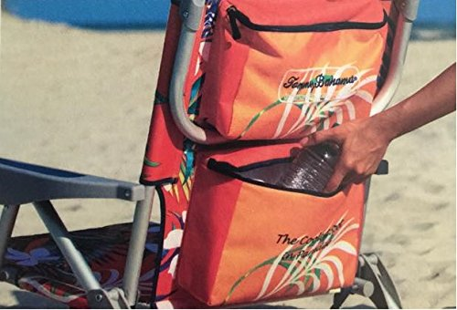2 Tommy Bahama 2016 Backpack Cooler Chair with Storage Pouch and Towel Bar (Orange/Red & Orange/Red) by Tommy Bahama (Image #5)