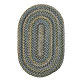 Colonial Mills MD54R024X048 Madison Braided Rug, Blue Moon