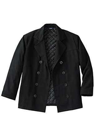 KingSize Men's Big & Tall Wool Peacoat at Amazon Men's Clothing store: