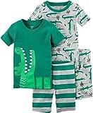 Carter's Boys' 4 Pc Cotton 341g285 (9 Months, Green)