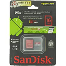 SanDisk Class 10 16GB Micro SDHC Card with Adapter (SDSDQUA-016G-A11A)