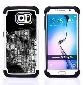 For Samsung Galaxy S6 G9200 - Lesbian Lgbt Quote Art Women Kissing Rights /[Hybrid 3 en 1 Impacto resistente a prueba de golpes de protecci????n] de silicona y pl????stico Def/ - Super Marley Shop -