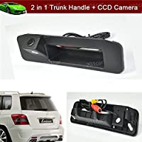 New 2 in 1 Replacement Car Trunk Handle + CCD Rear View Backup Reverse Parking Camera For Mercedes Benz GLK X204 GLK260 GLK300 GLK350
