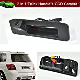 2 in 1 Replacement Car Trunk Handle + CCD Rear View Reverse Backup Parking Camera for Mercedes Benz GLK X204 GLK260 GLK300 GLK350