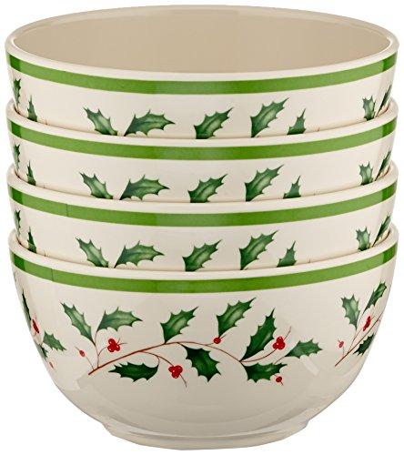 Lenox 870016 Holiday Melamine 4-Piece All Purpose Bowl Set