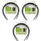 Scunci No Slip Grip Skinny Plastic Thin Headband Black Brown 6 Pieces | Flexible and Stays in Place | No Headaches | Works with Thin, Fine Hair | Also Good for Thick Curly Hair