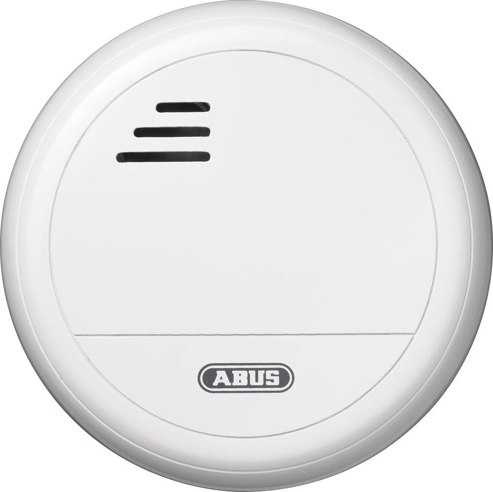 ABUS Rauchwarnmelder RM10, 51024, große Prüftaste, erfasst bis zu 40 ...