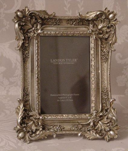 Vintage Style Antique Silver Ornate Baroque Leaf Design Picture