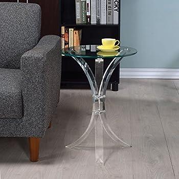 Amazon com: Acrylic Folding Tray Table – Modern Chic Accent