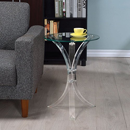 Coaster 900490-CO Round Glass Top End Table