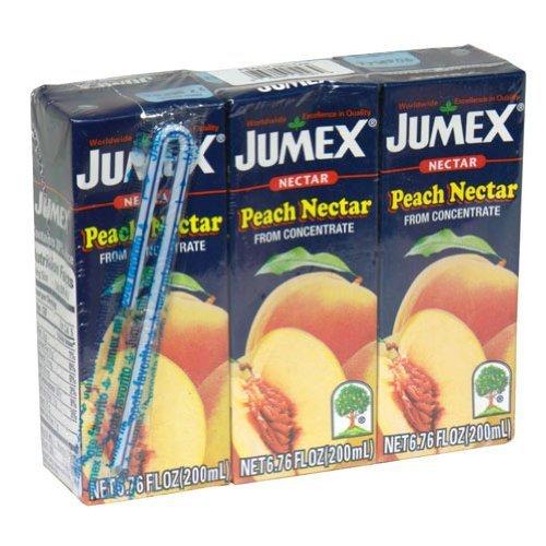 Jumex Peach Nectar - Jumex Mini Brick Peach 3 pack, 6.76-Ounce (Pack of 8)