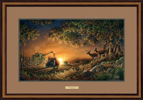 Sunset Harvest - Whitetail Deer Framed Elite Print by Terry Redlin