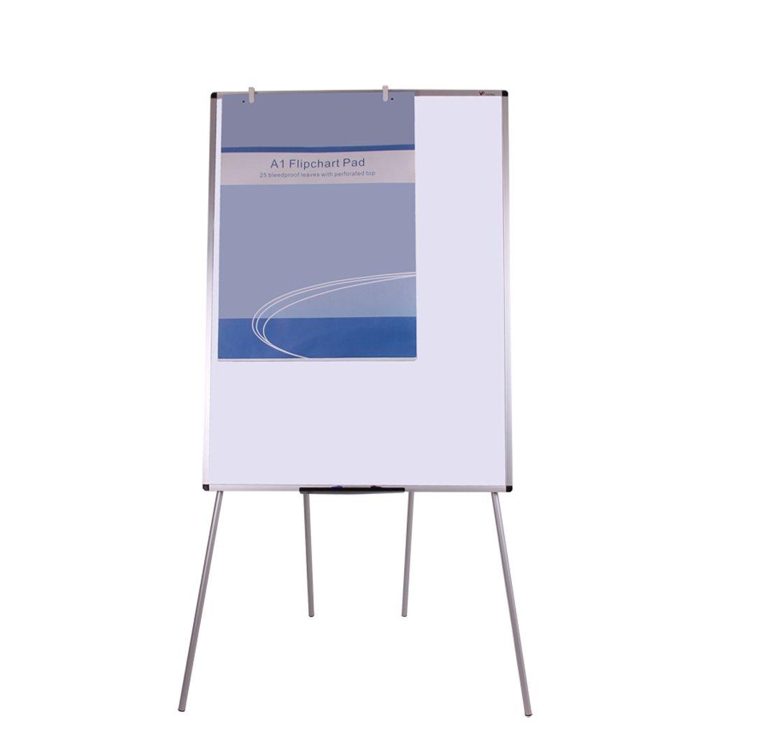 VIZ-PRO Light Magnetic Four Legs Stand Whiteboard/Flipchart Easel,36'' W x 48'' L