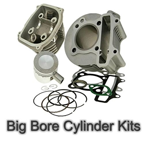 100cc Big Bore Kit Cylinder 64mm Head Piston Rings Set Chinese Scooter 50cc (Rotor Wing Head)