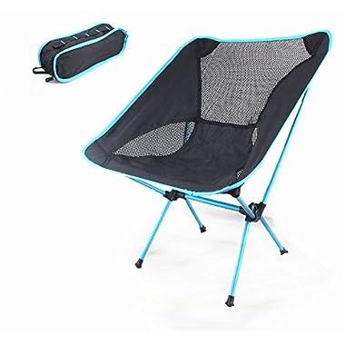 Portacamp Ultralight Compact Folding Camping/Tailgating/Hiking/Sports Chair (Sky Blue)