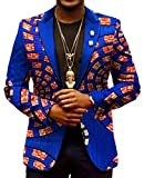 ARTFFEL-Men Casual Blazer Africa Print Lapel Dashiki Suit Jacket Coat Outwear 2 2XL