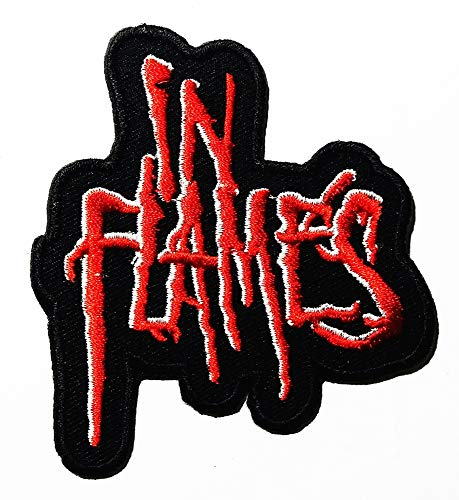 Music I Alternative Metal Flames Melodic Death Metal Heavy Metal Metalcore Music Band Logo Patch Embroidered Sew Iron On Patches Badge Bags Hat Jeans Shoes T-Shirt ()