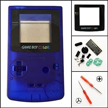 Carcasa Completa para Nintendo Gameboy Color GBC, Color Azul ...