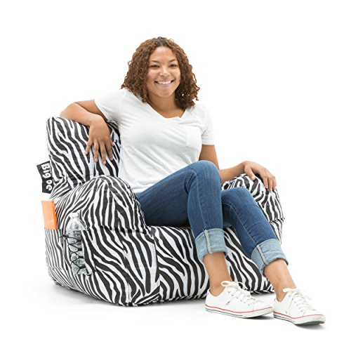 Big Joe Dorm Bean Bag Chair, Zebra