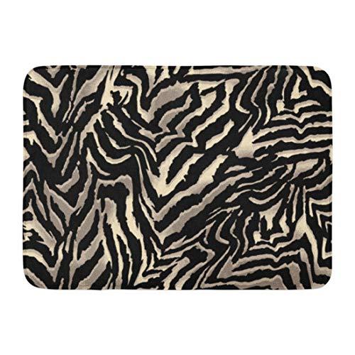 Emvency Doormats Bath Rugs Outdoor/Indoor Door Mat Animal Zebra Big Pattern Skin Fur Abstract Africa Bathroom Decor Rug Bath Mat 16